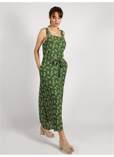 Vekem-Limited Edition VekemLimited Edition 201090074 V01 ÇiÇek Desenli Kadın Elbise Yeşil